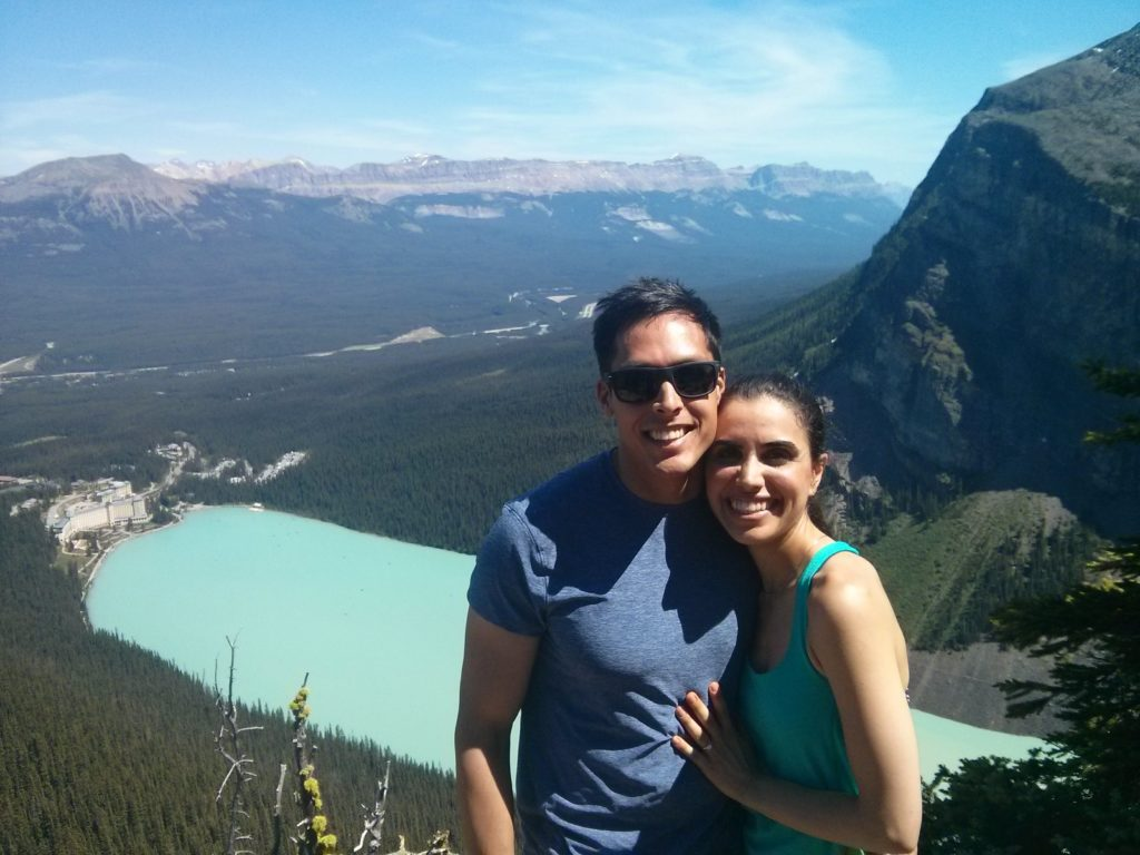 Dr. Rahul Mathur and his wife Hiking