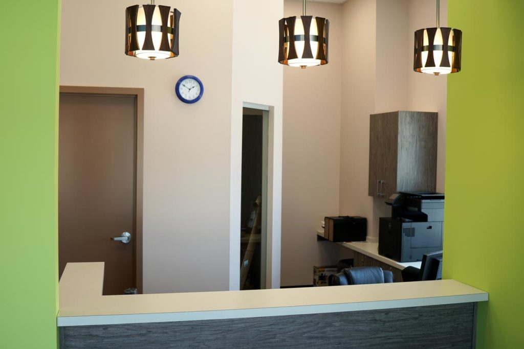 8th Street Dental Airdrie Reception Desk
